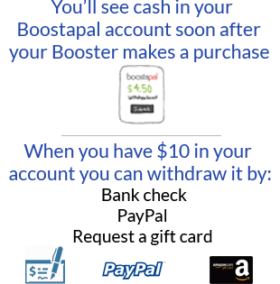 You'll see the cash in your Boostapal account