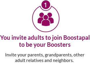 Parents, grandparents, aunts and uncles make great Boosters